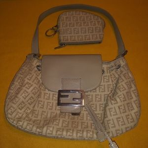 Fendi Zucchino Bag with Coin Purse